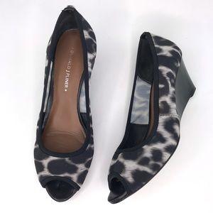 Donald J Pliner Molly Leopard Peep-toe Wedges 7